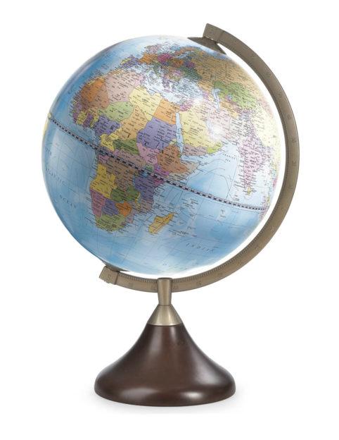 Coronelli desk globe light blue color - catalog photo