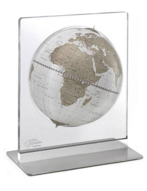 Product photo of white and gold Italian Aria desk globe
