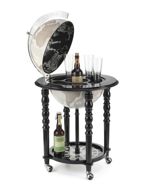 Image of Designer Elegance modern globe bar - black, product photo