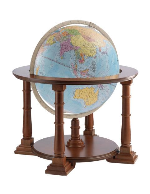 Mercatore extra large world globe - light blue political, product photo
