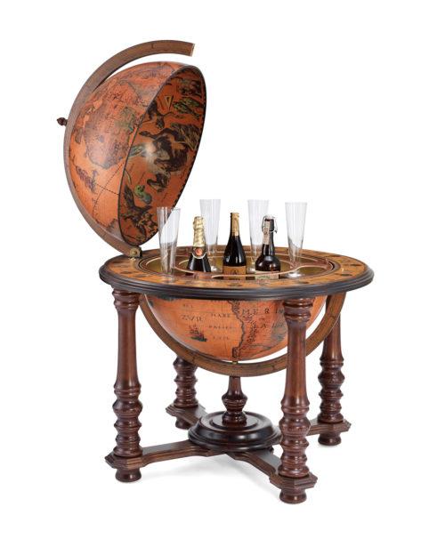 Product photo of the Elite extra large bar globe Demetra | open